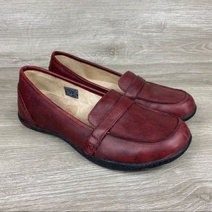 Keen Cush Womens Leather Slip On Loafers Size 7.5